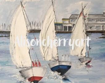 Ballyholme Yacht Club & Boats Print
