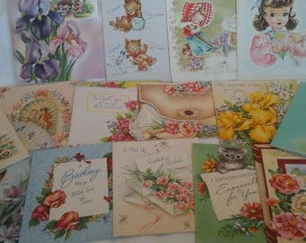 Vintage  to young lady birthday  cards #4