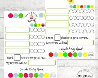 Instant digital download Star Reward Chart
