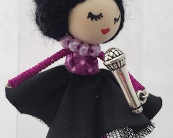 Doll brooch Pop Star