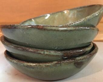 Set of Small Ceramic Dessert Bowls Kitchen Accessories Prep Bowls Ceramic Bowls