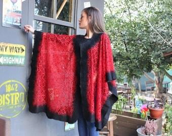 Nuno Felted Scarf, Shawl Pancho, Felt Poncho, Wool Poncho, Bohemian Style, Stole Wrap Tippet, Women Poncho, Women Felt Cape, Silk Felt Cloak