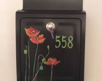 Hand painted mailboxes custom ordered your color, your style, your desires, your information