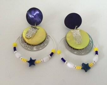 print earrings