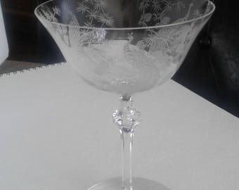 Heisey champagne stemware