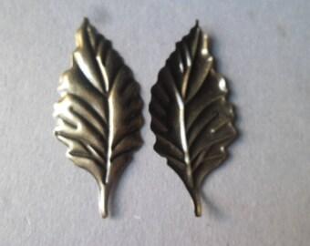 x 2 sheet filigree embellishments decorative bronze 5.5 x 2.4 cm