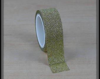 masking tape glittery gold 15mm x 3 m