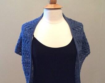 Lacy Blue Shawlette/Scarf