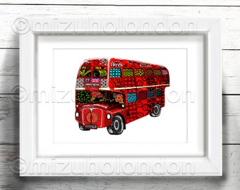 Japanese pattern Double decker bus