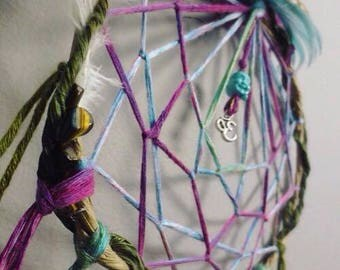 Custom Dream Catcher with Charm: Large Size, 9inches by 23 inches