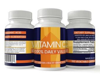Vitamin C Capsules, 1000% Daily Value, 600 mg, L-Ascorbic Acid, Vegan, Healthy Immune System, Satisfaction Guaranteed