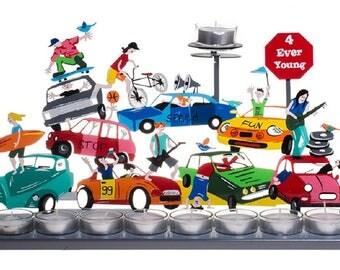 Traffic Jam Hanukkah Menorah By Tzuki Art