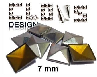Heat-sealed nails X 200 flat 7mm silver back