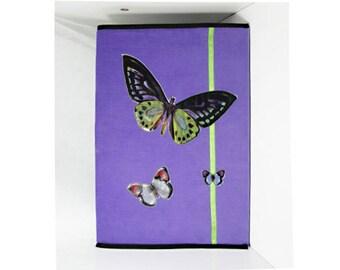 Large velvet butterflies notebook cover