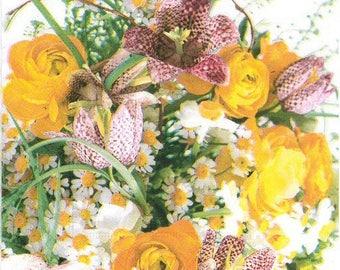 2 flower bouquet (338) towels