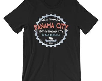 What Happens In Panama City Stays T-Shirt, Panama City 2018 Spring Break Vacation Tee Shirt, Panama City Spring Break TShirt Gift