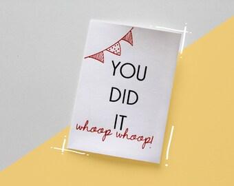 You did it- Motivation card  (Silkscreen)
