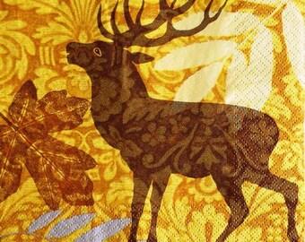 TOWEL in beautiful paper deer #AN100