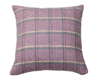 Dusidale Heather Tweed Wool Plaid Checked Tartan Cushion Cover