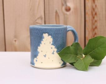 Tree Mug, Winter Mug, Small Mug