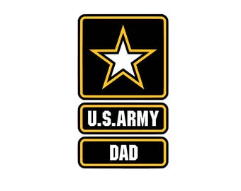 US Dad SVG and Studio 3 Cut File Decal Cut Files Logo Military Silhouette Cricut Decals Cuts Logos United States of America  Army
