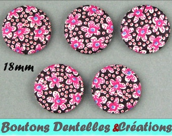 Buttons covered with Liberty - Speckle B - 18mm
