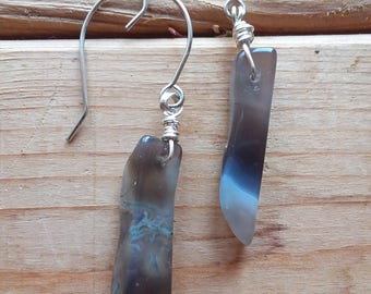 Gemstone Earrings Dangle Earrings Natural Gemstone Tribal Earrings