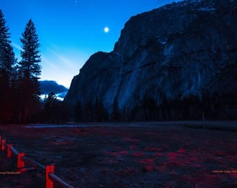 Yosemite Moonrise, Yosemite National Park