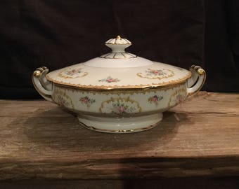 Vintage Noritake Covered Vegetable Dish| Serving Dish|Covered Casserole Dish