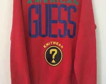 Super Rare!! Vintage Guess Multicolour Big Logo Spellout iron on..