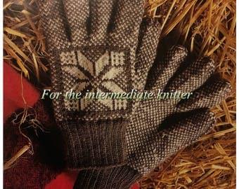 PDF Knit Snowflake Gloves