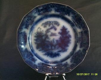 Antique E.C. & Co, Flow Blue Plate
