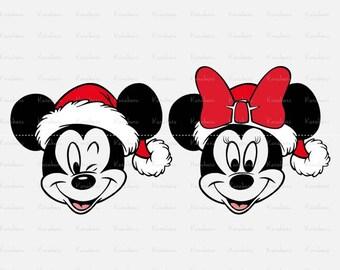 Mickey & Minnie svg Mickey Christmas svg Minnie svg Mickey svg mickey svg files for cricut dxf Files  Cricut Cut Files, Silhouette Cut Files