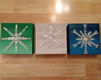 Button Art - - Snowflakes