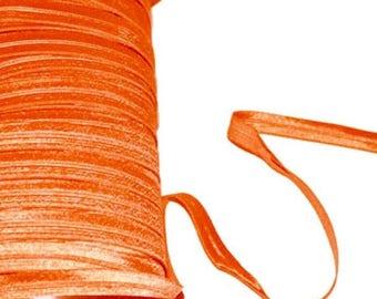 Ribbon elastic Orange 1, 2 cm wide