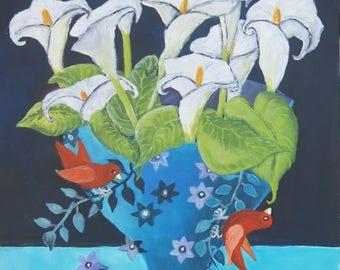 "Original Stillife Painting by Susanne Mason, ""Sweet Serenade"""