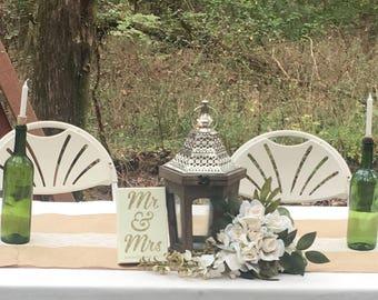 Wedding Sweetheart Table Setting