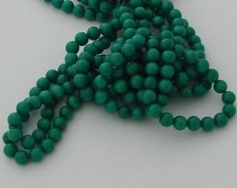 10 jade 8mm Dark Turquoise color beads