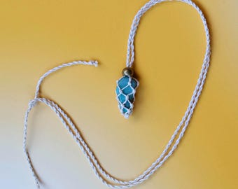 Amazonite Macrame Necklace
