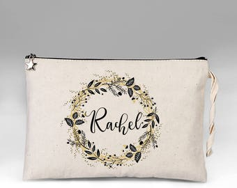Bride Makeup Bag, Bridal Gift, Personalized Wedding Gift, Bridal Shower Gift, Bride Gift, Makeup Bag, Wedding Gift, Bridal makeup Bag, Bride