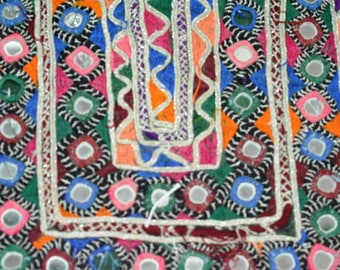 Indian Vintage Patch Embroidery Applique kutch patch old handmade Fabric 04