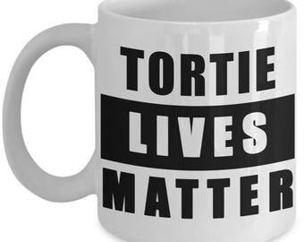 Tortie Cat Mug - Tortoiseshell Cats Matter coffee cup