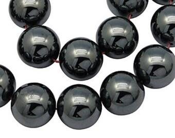50 beads Hematite 8 mm ideal Shamballa