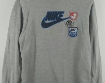 RARE!!! Vintage Nike Sweatshirt - Nike Sweater - Pull Over - Spell Out - Big Logo