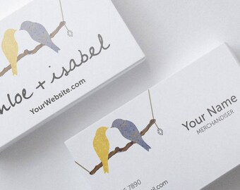 PERSONALIZED Chloe and Isabel Business Card - Clean and Classic Design