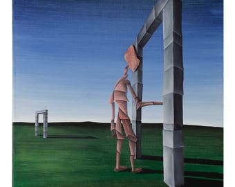The Door by Cesar Vazquez | Cubism | Surrealism | Literature | Natural Pink Stone
