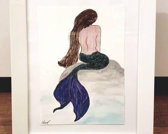 Mermaid Watercolour Painting