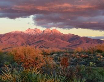 Arizona, Landscape Photography, Four Peaks, Mountains, Sunset, Landscapes, Photo, Digital Photography