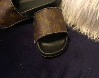 Louis Vuitton slides upcycled