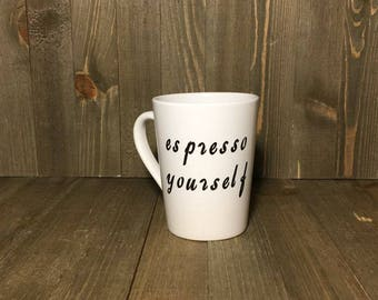 Epress Yourself 14 oz Coffee Tea Cocoa mug personalize customized gifts under under 20.00